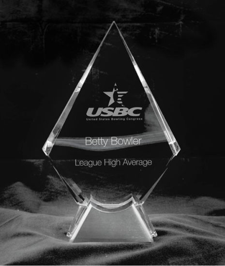 Picture of Crystal Clear Diamond Award (9_ Height)