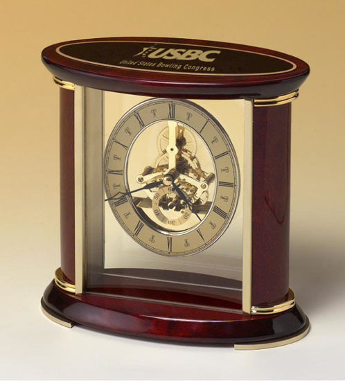 Picture of Glass and Wood Clock