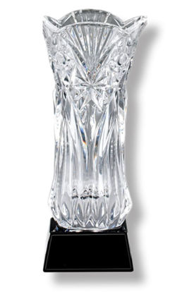 Picture of Crystal Vase on Black Base